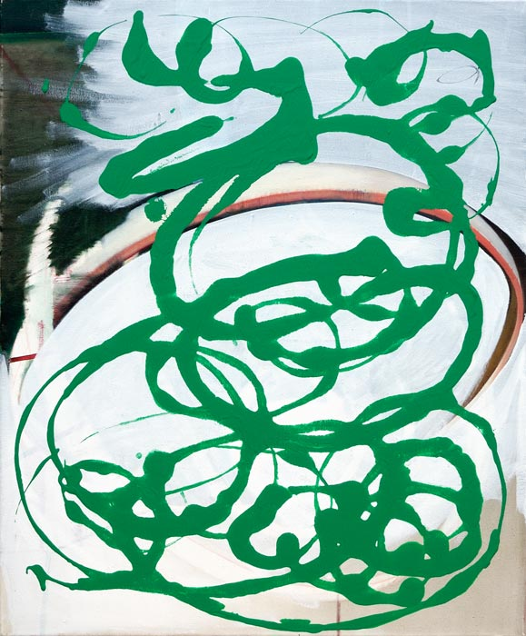 Claudia Annette Maier . o.T., 2014, Öl, Acryl auf Leinwand, 60 x 50 cm