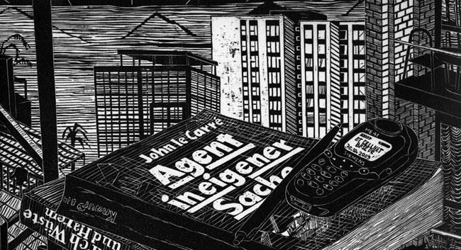 Gabriela Jolowicz . London Pile (Detail), 2010, Holzschnitt auf Wenzhou Chinapapier, Druckmaß 38 x 45 cm, Blattmaß ca. 40 x 60 cm, Auflage von 7