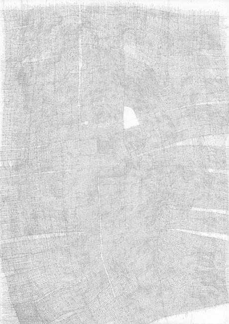 Sebastian Rug . ohne Titel (26-2009), 2009, Bleistift auf Papier, 29,7 x 21,0 cm . Staatliche Kunstsammlungen Dresden, Kunstfonds