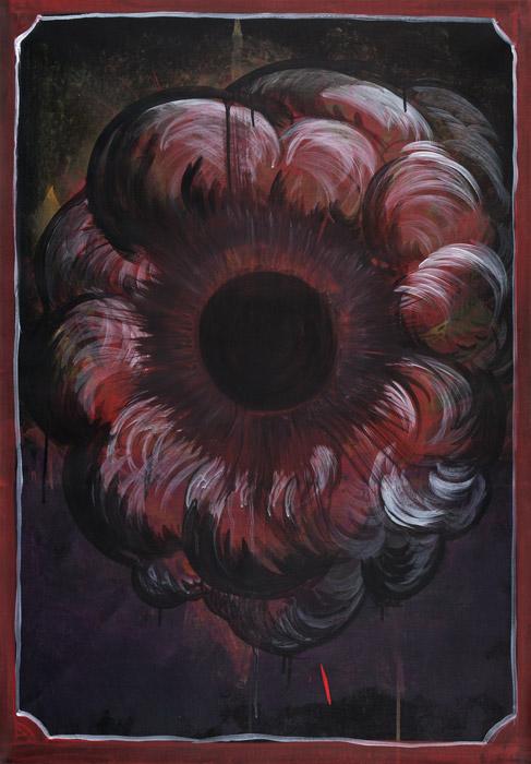 Thomas Moecker . Schwelle zum Nichts (1), 2012, Acryl auf Leinwand, 88 x 68 cm
