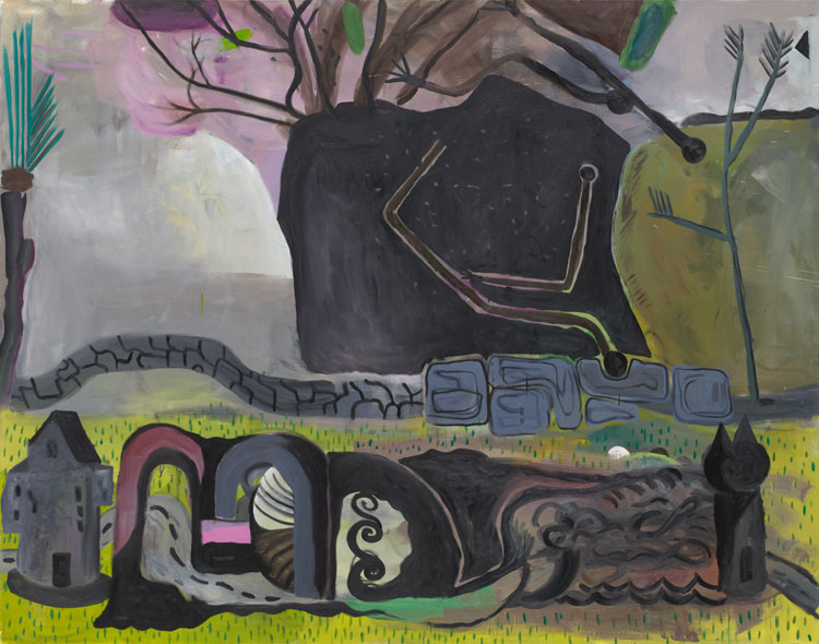 Tobias Hild . Burgund, 2011, oil on canvas, 190 x 240 cm