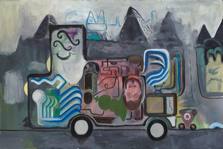 Tobias Hild . The G-Unit, 2011, oil on canvas, 200 x 300 cm