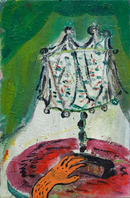 Tobias Hild . Hand, 2014, Öl auf Leinwand, 60 x 38 cm