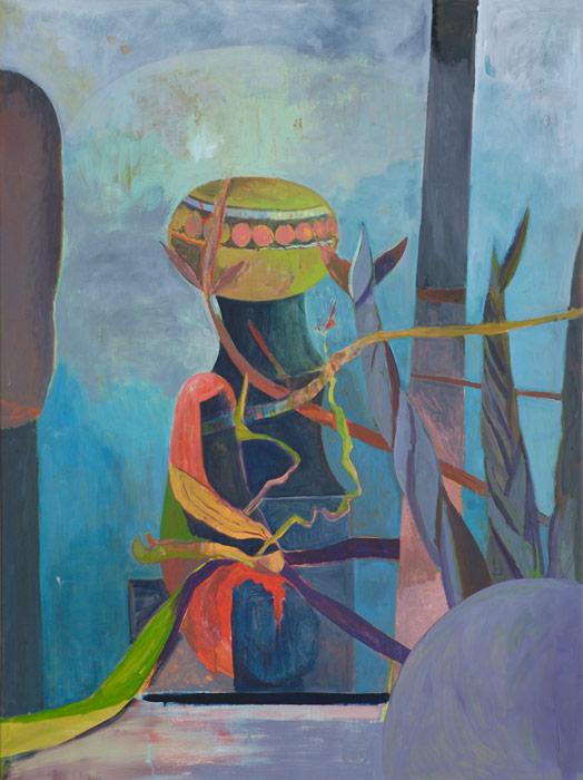 Victor Berezovsky . Keeper, 2013, Öl auf Leinen, 160 x 120 cm