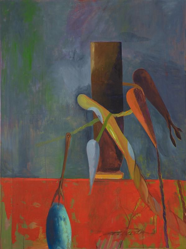 Victor Berezvosky . Pillar, 2013, Öl auf Leinen, 160 x 120 cm