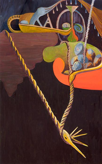 Victor Berezovsky . Still life, 2012, Öl auf Holz, 120 x 75 cm