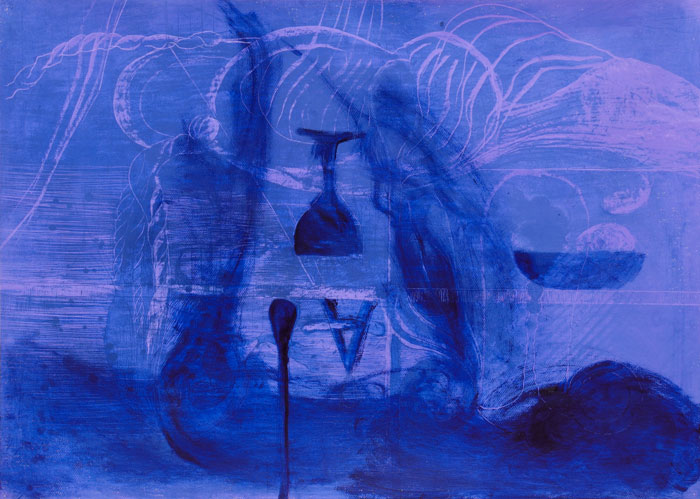 Victor Berezovsky . Topsy Turvy, 2013, Pastell, 75 x 105 cm