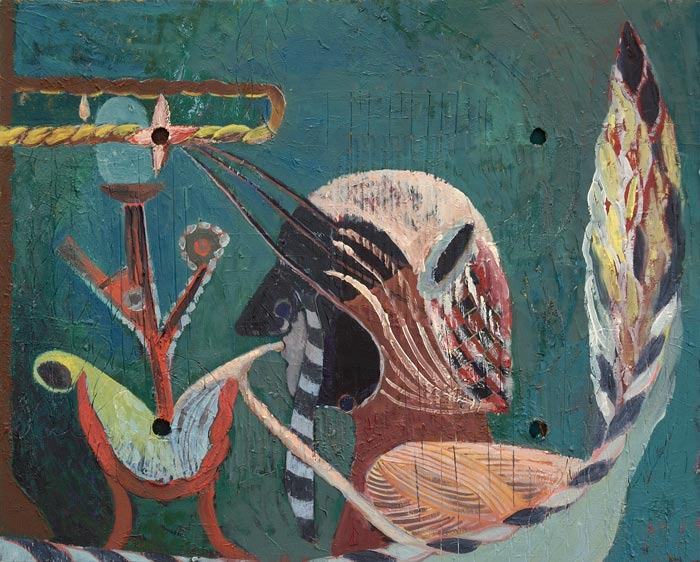 Victor Berezovsky . Utensils, 2012, Öl auf Holz, 40,2 x 50,0 cm